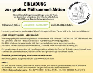 Read more about the article Müllsammelaktion am 18.09.2021